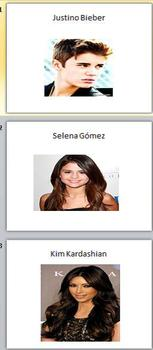 Spanish Realidades 5A 5B Which Celebrity Am I? Communicative Activity
