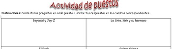 Spanish Realidades 7-A/7-B Station Activity to Practice Clothes, Season and more