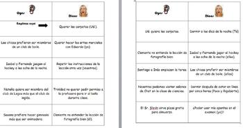 Spanish Realidades Oyes/Dices Verb Conjugation Game for Levels 1&2