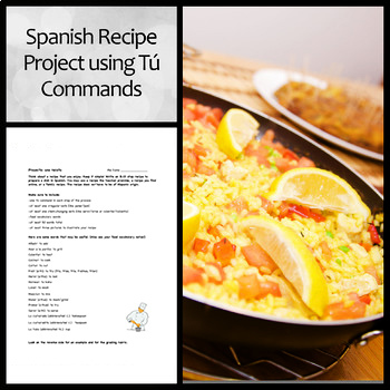 Spanish Recipe Project for Food and Affirmative Tú Commands