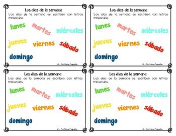 Spanish Reference Rings ~ Tarjetas de Gramatica en Español