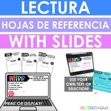 Spanish Reference Sheets and Slides for Stations