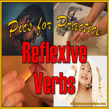 Spanish Reflexive Pics for Practice Powerpoint