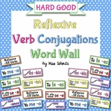 Spanish Reflexive Verb Conjugations Word Wall {HARD GOOD}