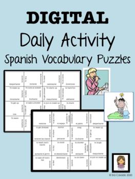 Spanish Reflexive Verb, Daily Activity Vocabulary magic sq