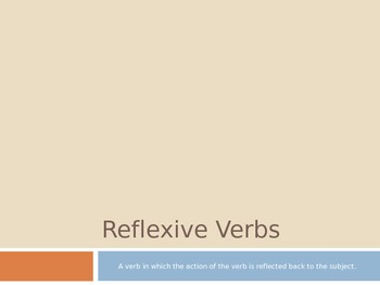 Spanish - Reflexive Verb Notes PowerPoint