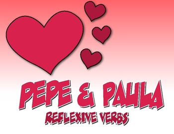Spanish Reflexive Verb Pepe and Paula Reading