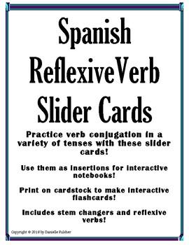 Spanish Reflexive Verb Slider Cards