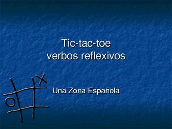 Spanish - Reflexive Verb - Tic Tac Toe