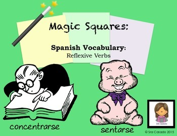 Spanish Reflexive Verb Vocabulary:  Puzzle Activity