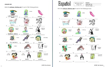 Spanish Reflexive Verbs 18 Infinitive Image IDs Worksheet