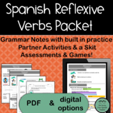 Spanish Reflexive Verbs, PACKET of Activities for Practice and Review {UPDATED!}