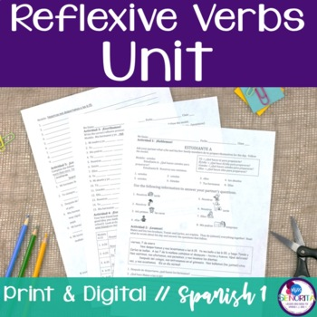 Spanish Reflexive Verbs Bundle