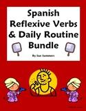 Spanish Reflexive Verbs Bundle - Vocabulary, 9 Worksheets,