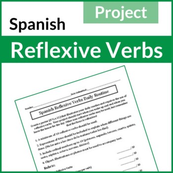 Spanish Reflexive Verbs Daily Routine Project (Proyecto: V