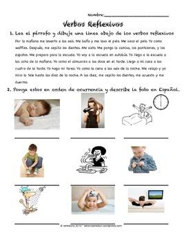 Spanish Reflexive Verbs, Daily Routine, Rutina diaria
