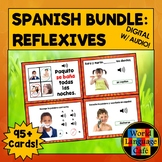 Spanish Reflexive Verbs Flashcards, Distance Learning, Dig