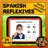 Spanish Reflexive Verbs Flashcards, Spanish Distance Learn