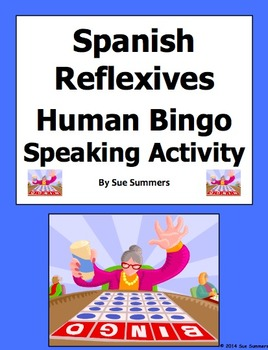 Spanish Reflexive Verbs Human Bingo Game Speaking Activity & Follow-Up
