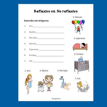 Spanish Reflexive Verbs Interactive Notebook Activities