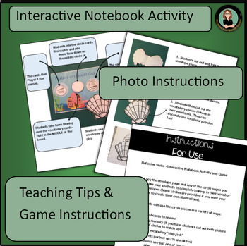 Spanish Reflexive Verbs: Interactive Notebook Activity and Game