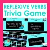 Spanish Reflexive Verbs Jeopardy-Style Trivia Game