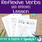 Spanish Reflexive Verbs Lesson - infinitives