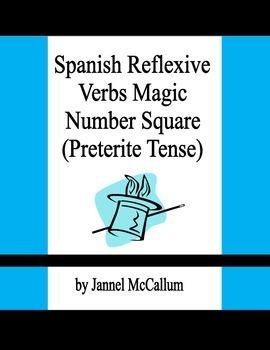 Spanish Reflexive Verbs - Magic Number Square