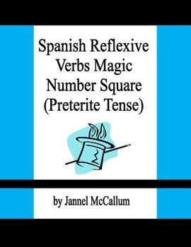 Spanish Reflexive Verbs - Magic Number Square