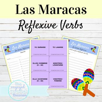 Spanish Reflexive Verbs Maracas Game: Los Verbos Reflexivos