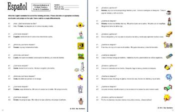 Spanish Reflexive Verbs & Ordinal Numbers Skit & Translation Homework