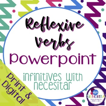 Spanish Reflexive Verbs Powerpoint - infinitives
