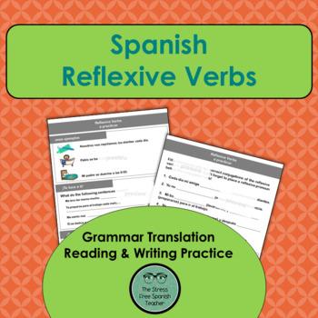 Spanish Reflexive Verbs, Practice (Grammar Translation, Ve