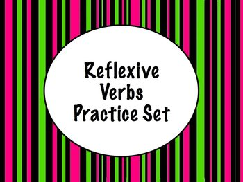 Spanish Reflexive Verbs Worksheets Practice Set
