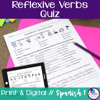 Spanish Reflexive Verbs Quiz
