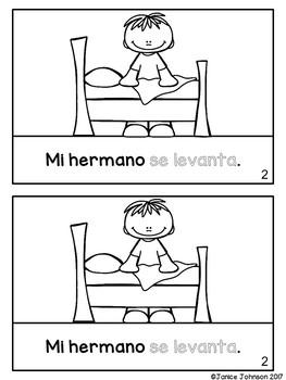 Spanish Reflexive Verbs Reader & Build-A-Book ~ el reflexivo