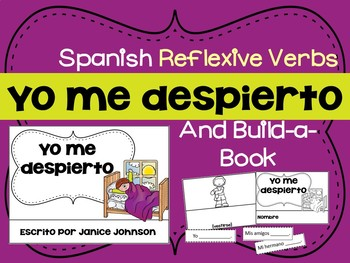 Spanish Reflexive Verbs Reader & Build-A-Book ~ el reflexivo
