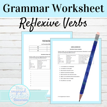 Spanish Reflexive Verbs: Sentence Building worksheet (Verb