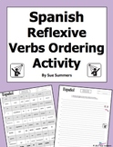 Spanish Reflexive Verbs Sentences To Put in Order - Verbos Reflexivos