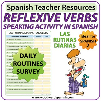 Spanish Reflexive Verbs Speaking Activity - Daily Routines