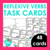 48 Spanish Reflexive Verbs Task Cards