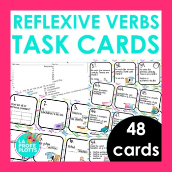 Spanish Reflexive Verbs Task Cards