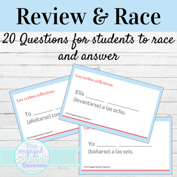 Spanish Reflexive Verbs Word Race Activity