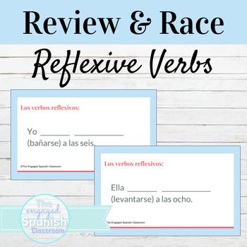 Spanish Reflexive Verbs Word Race Activity / Los Verbos Re