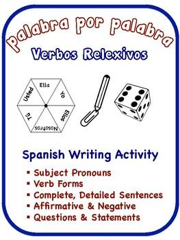 Spanish Reflexive Verbs Writing Activities (6 Versions)