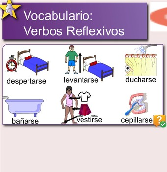 Spanish Reflexive Verbs and Routine Handouts and Presentations
