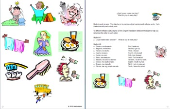 Spanish Reflexives Daily Routine & Ordinal Numbers Skit / Role Play