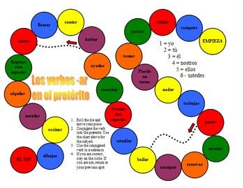 Spanish Regular -AR Preterite Board Game
