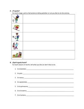 Spanish Regular -AR Verb Meanings & Activities