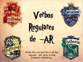 Spanish Regular -AR Verbs Practice Slideshow (Present Indicative)